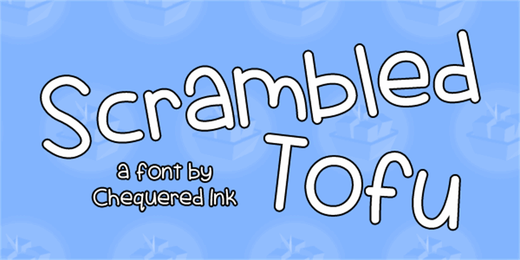 Scrambled Tofu Font design graphic