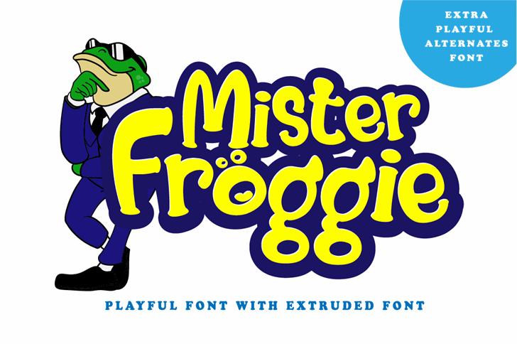 Mister Froggie Regular Font cartoon design