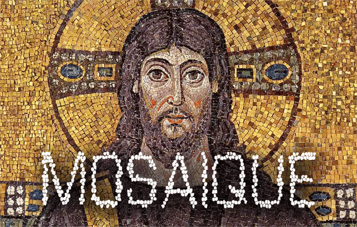 Mosaique Font drawing painting