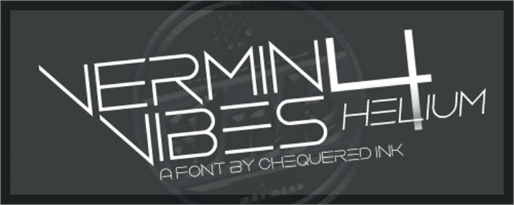 Vermin Vibes 4 Helium font by Chequered Ink