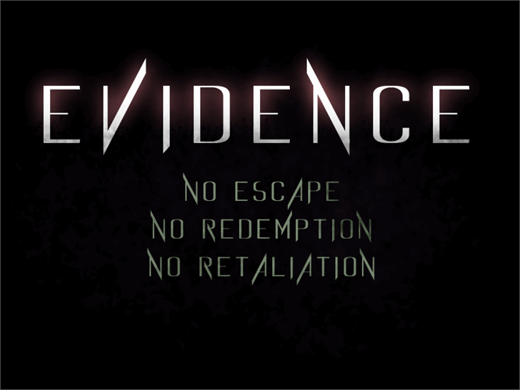 Evidence font by test