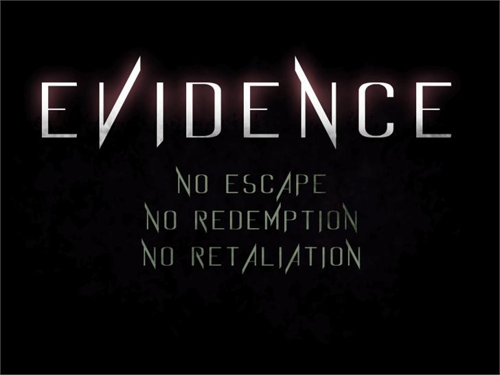 Evidence Font text design