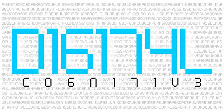 Digital cognitive Font abstract design