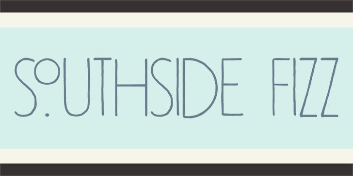 DK Southside Fizz Font design font
