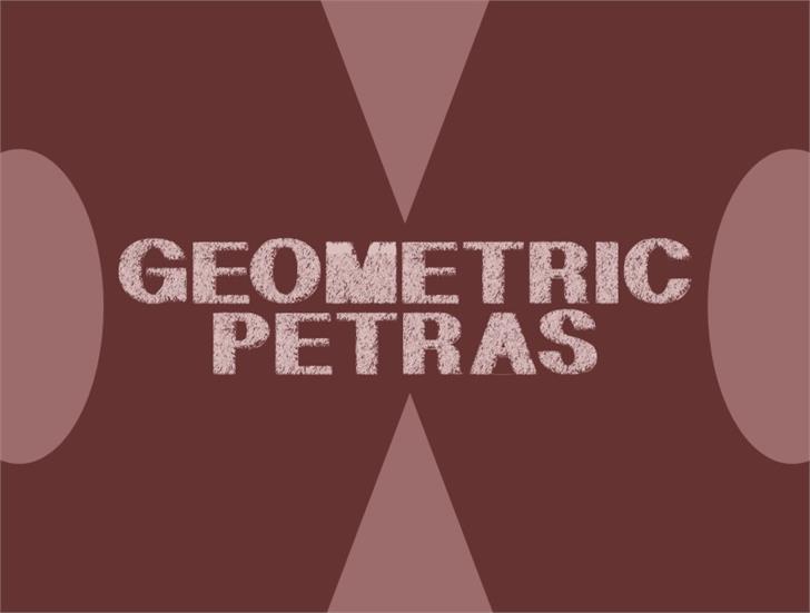 GeometricPetras Font design screenshot