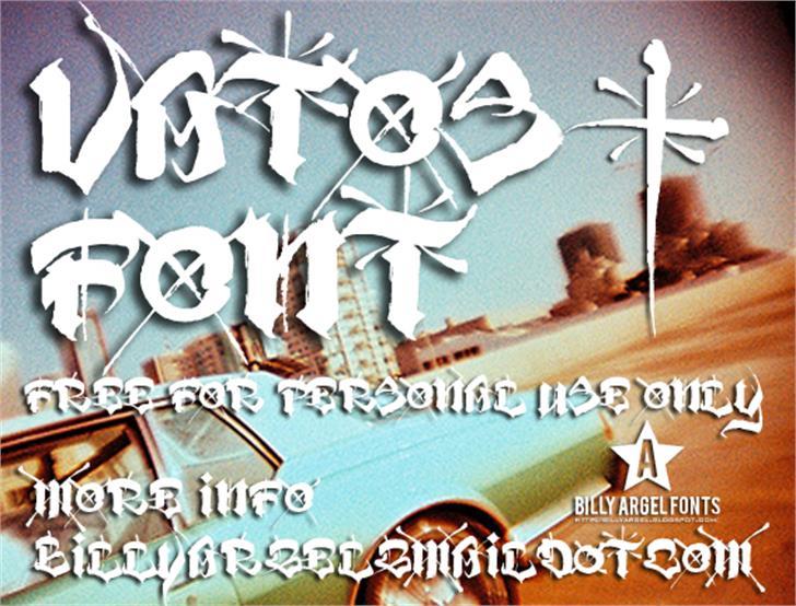 VATOS Font poster screenshot