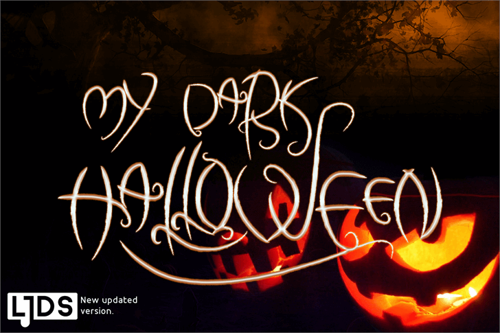 my dark halloween font by LJ Design Studios