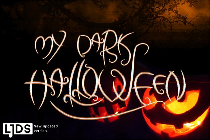 my dark halloween Font light handwriting