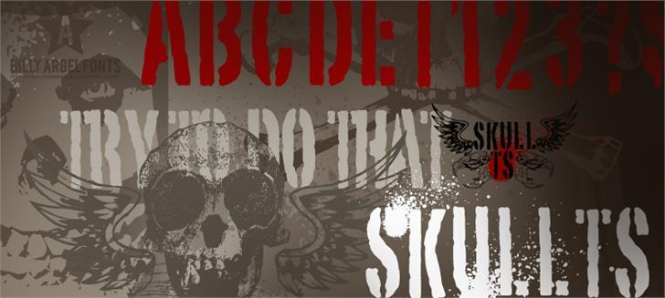 SKULL TS 2 Font poster drawing