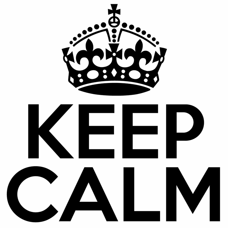 Keep Calm Med Font design graphic