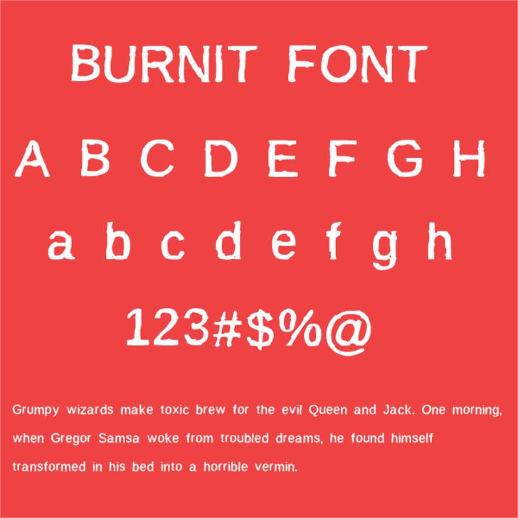 BurnIt Font knowledge design