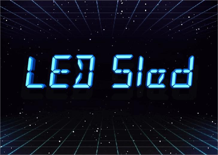 LED Sled Font screenshot clock