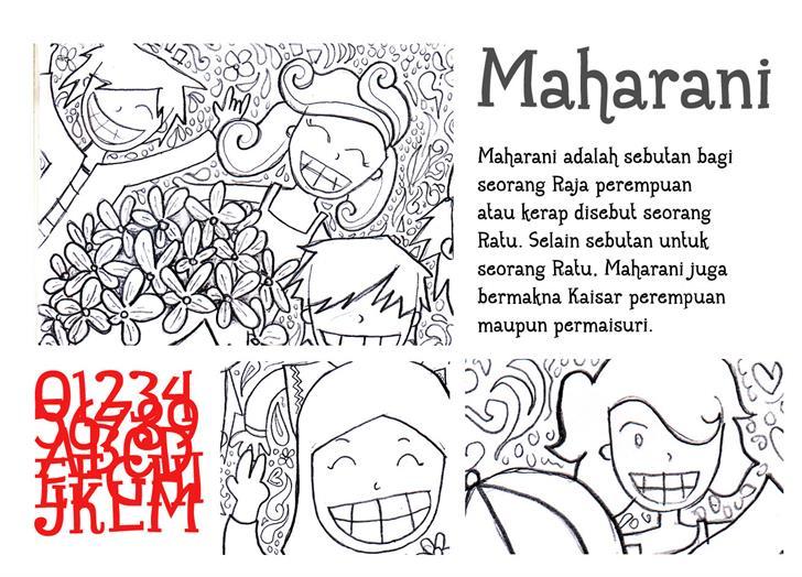 Maharani Font text cartoon