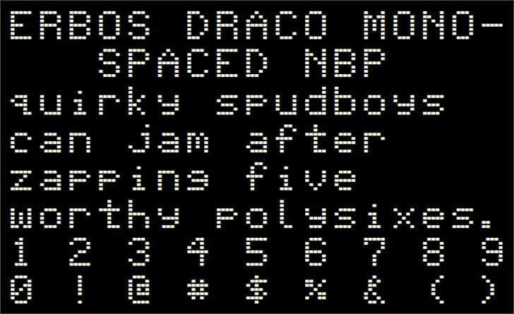 Erbos Draco Monospaced NBP Font screenshot colorfulness