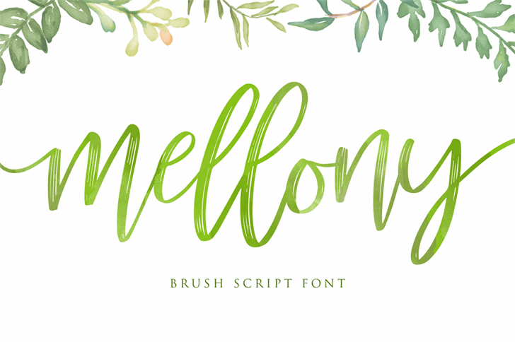mellony dry brush Font handwriting design