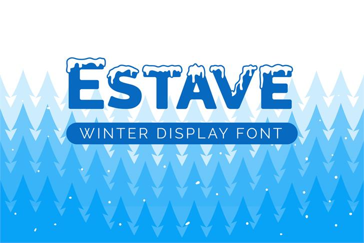 Estave Font design screenshot
