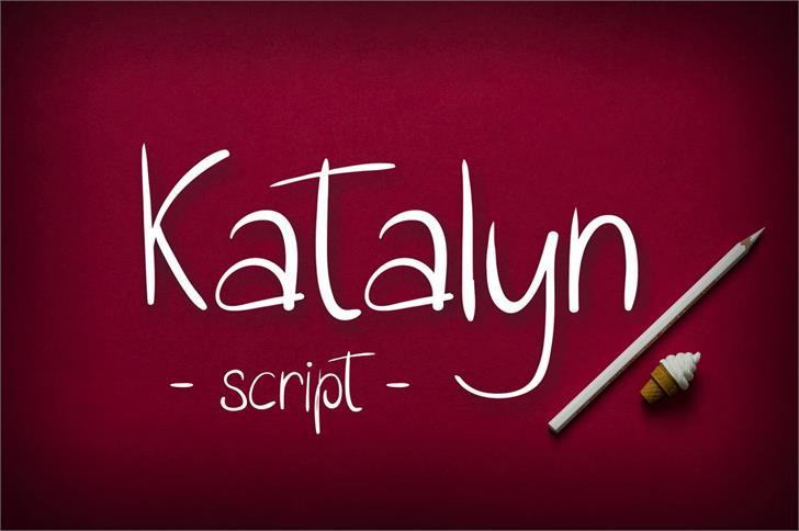 Katalyn Font design handwriting