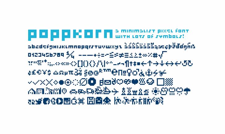 Poppkorn Font text design