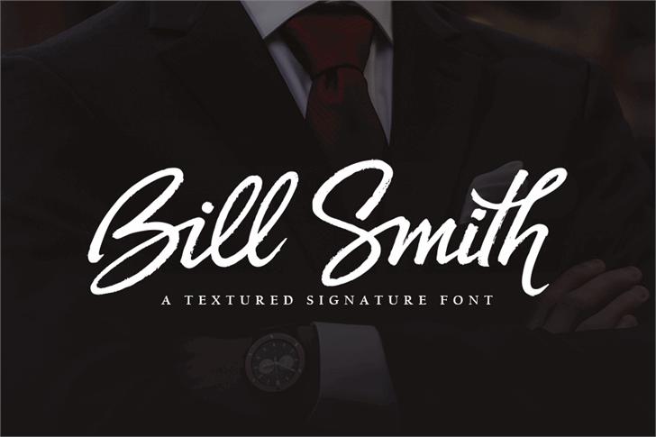 Bill Smith font by subectype & Orenari