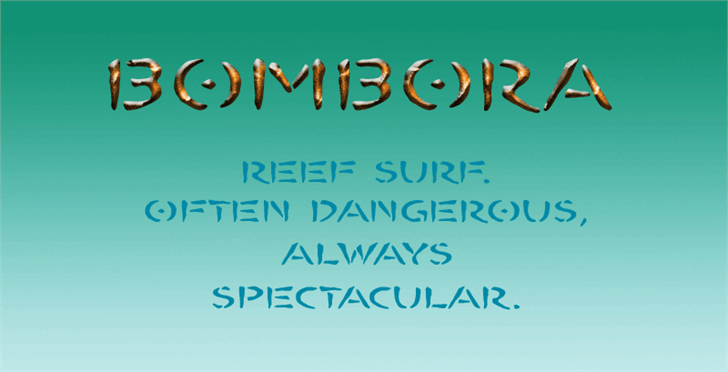 BOMBORA Font text handwriting