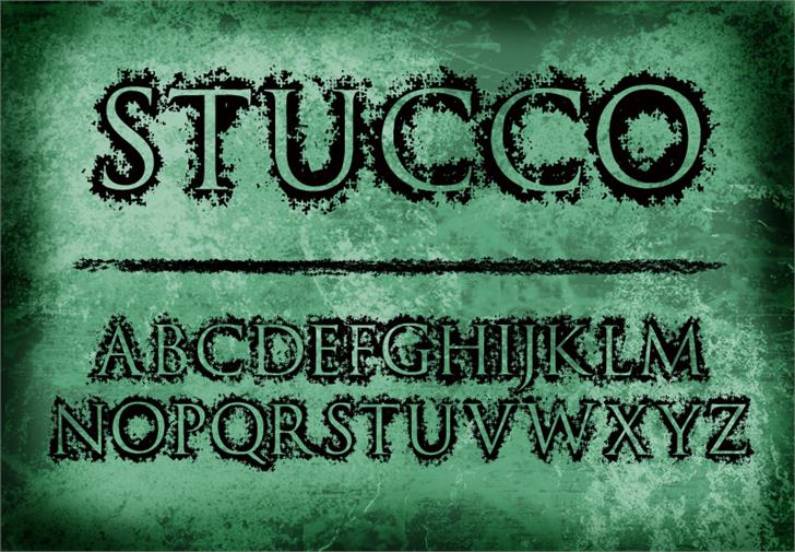 Stucco Font handwriting text