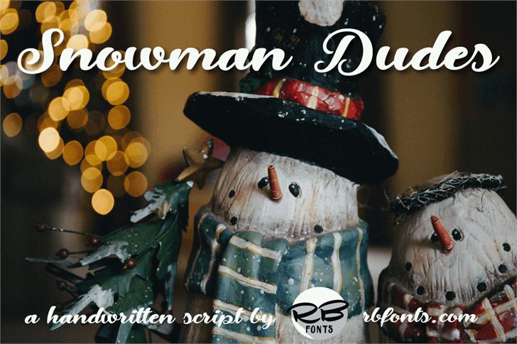 Snowman Dudes Font cartoon toy