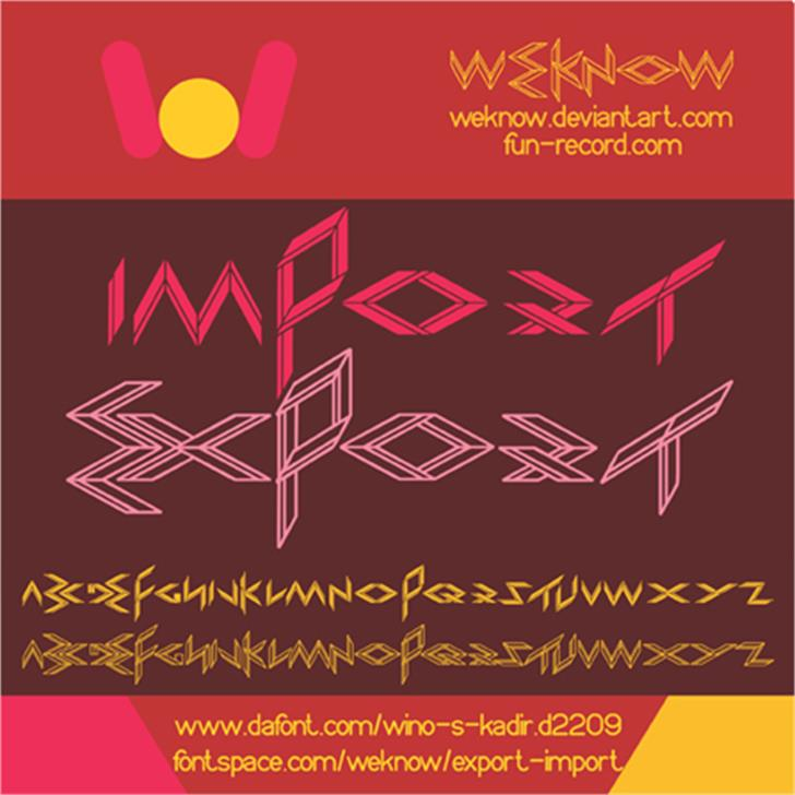 EXPORT import Font design poster