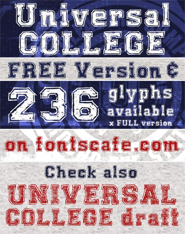 UNIVERSAL-COLLEGE Font text screenshot