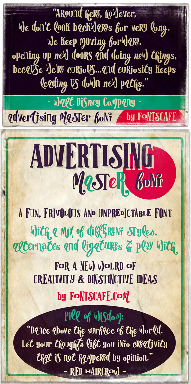 Advertising Master LIGHT versio Font text book