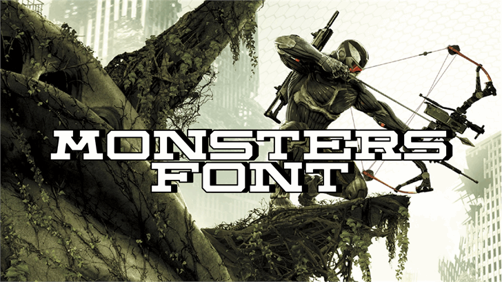 Monsters Font poster