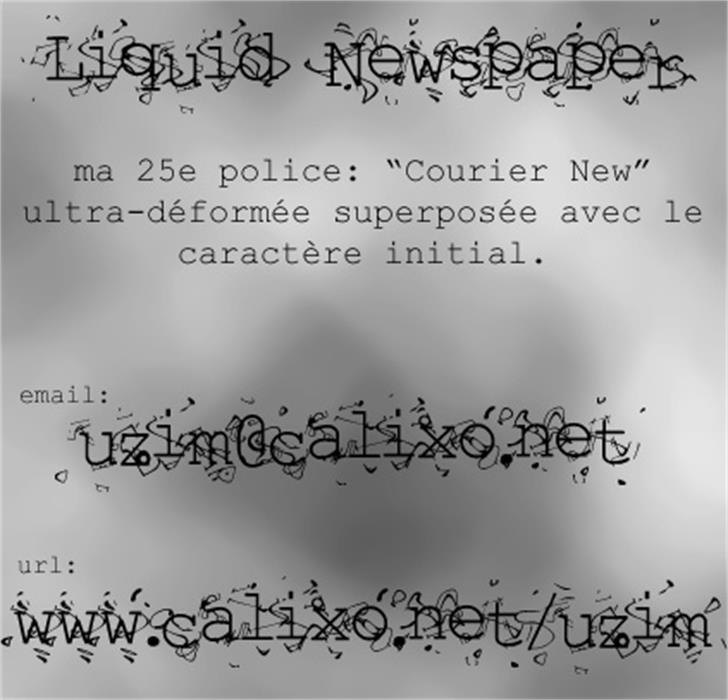Liquid Newspaper Font nintendo