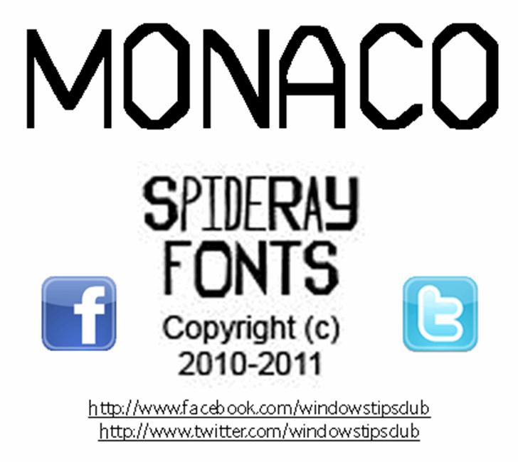 MONACO font by SpideRaYsfoNtS