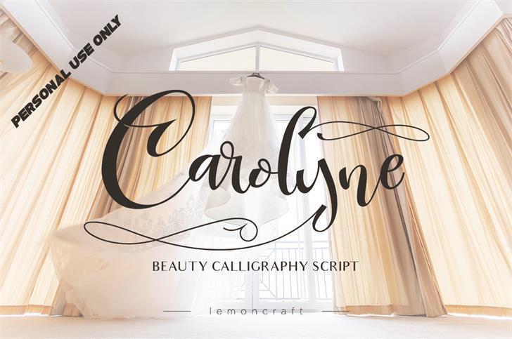 CarolynePersonalUse Font design handwriting