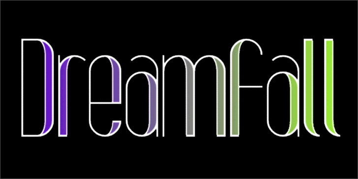 Dreamfall Font design