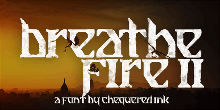 Breathe Fire II Font poster text