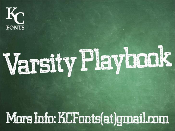Varsity Playbook Font blackboard text