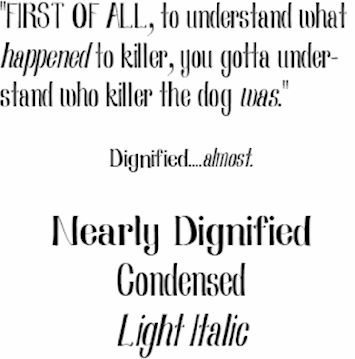 Nearly Dignified Font moon dark