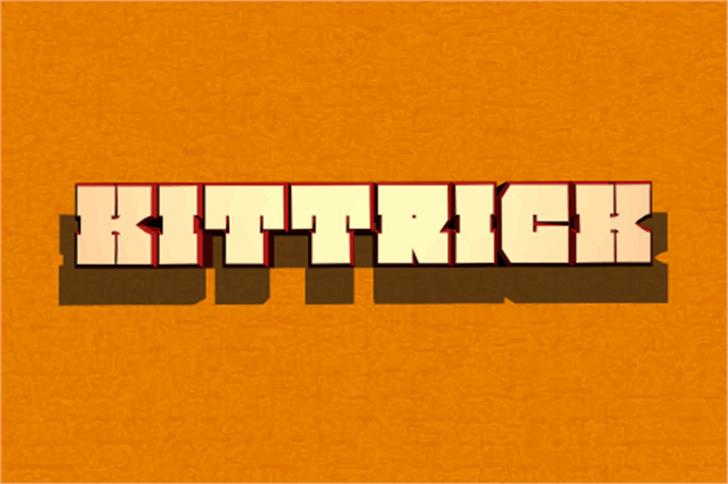 Kittrick Font screenshot orange