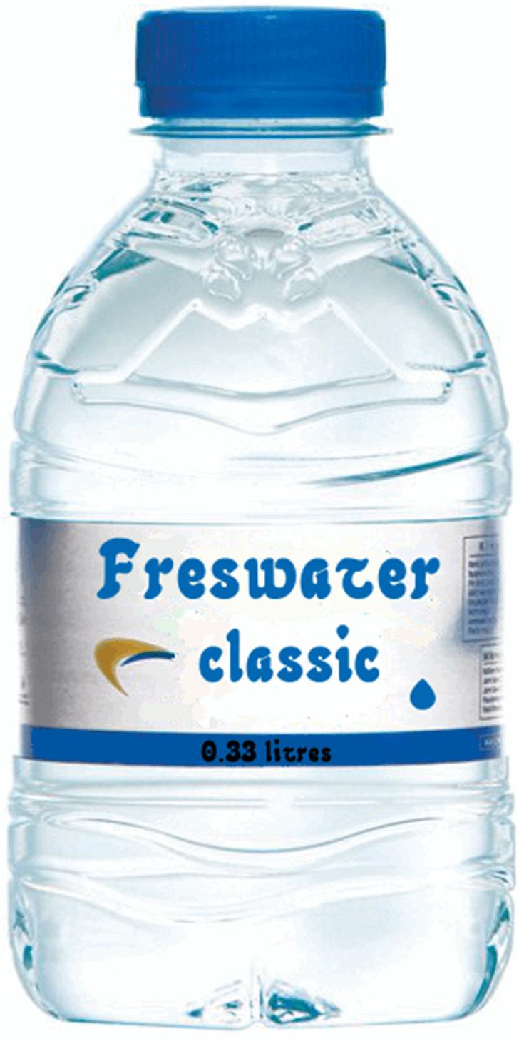 Freshwater Font drinking water bottle