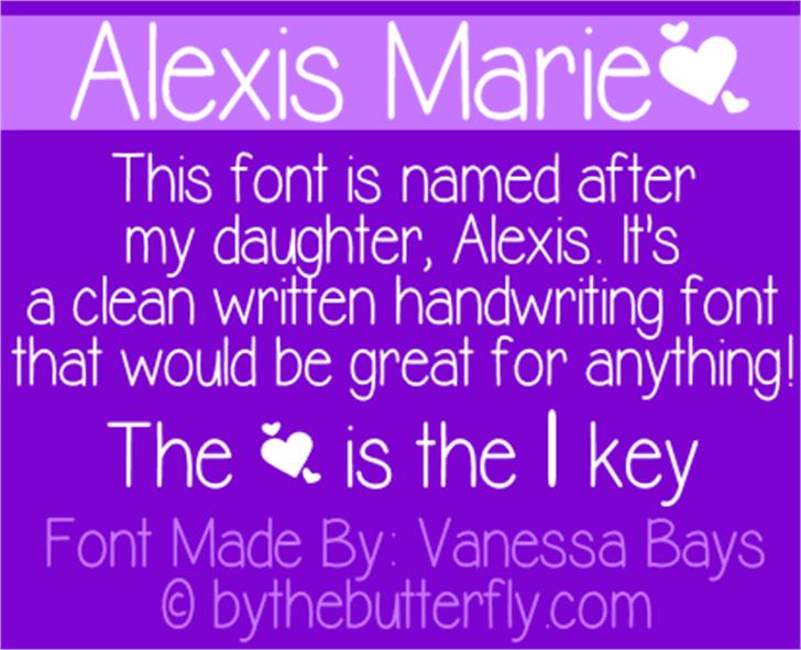 Alexis Marie Font font screenshot