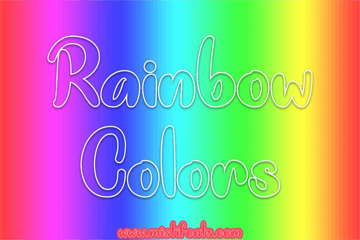 Rainbow Colors font by Misti's Fonts