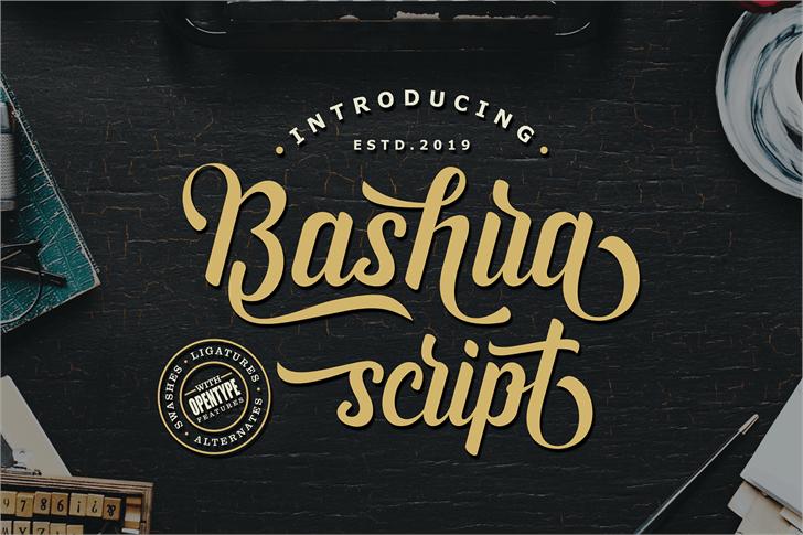 Bashira Font poster