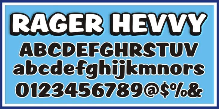 SCRIPT1 Rager Hevvy Font typography text
