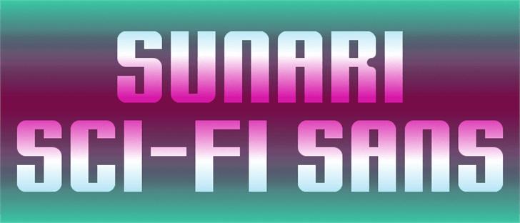 Sunari Font screenshot design