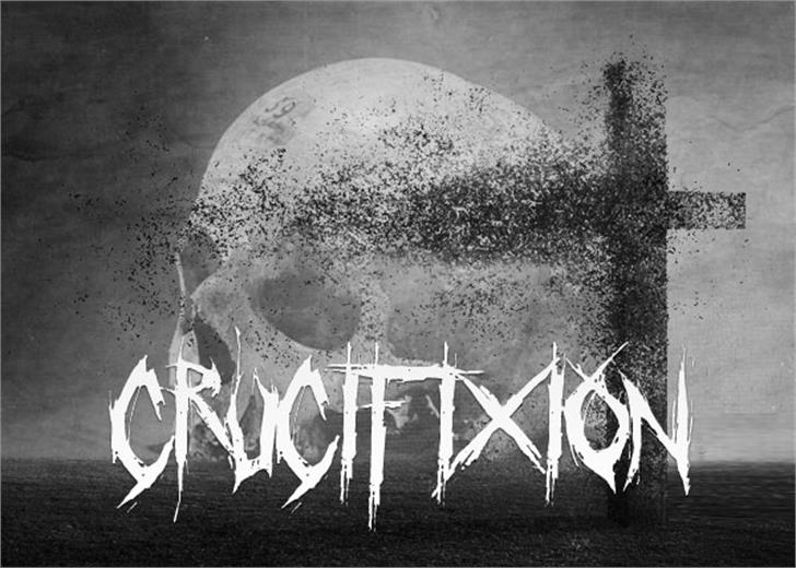 Crucifixion font by Font Monger
