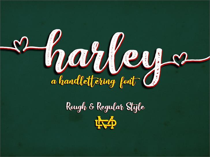 Harley Script Font design text