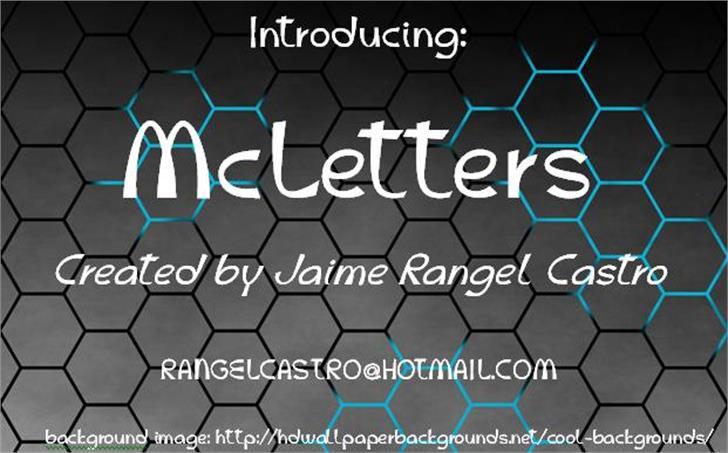 McLetters Font screenshot geometry