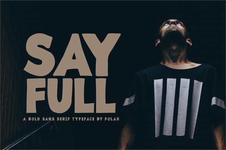 Sayfull Font poster clothing