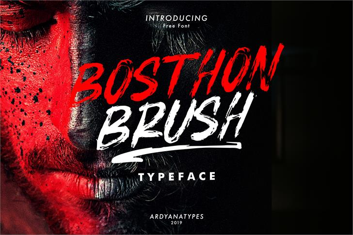BOSTHON BRUSH font by Ardyanatypes