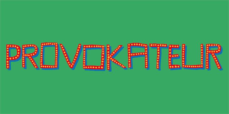 Provokateur DEMO Font design illustration